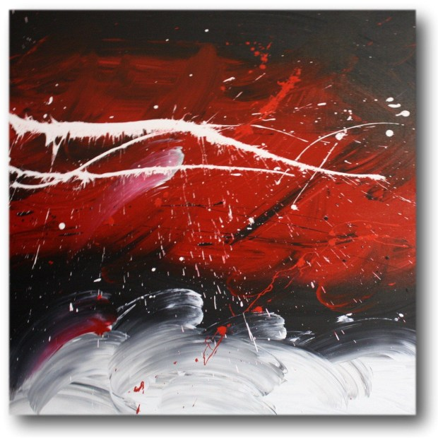 black white and red art home design ideas