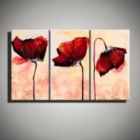 20 Collection of Red Poppy Canvas Wall Art | Wall Art Ideas