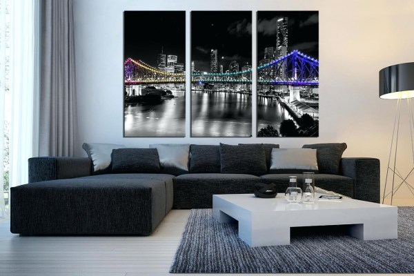 Black and White 3 Piece Canvas Wall Art