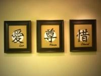 20 Photos Chinese Symbol Wall Art
