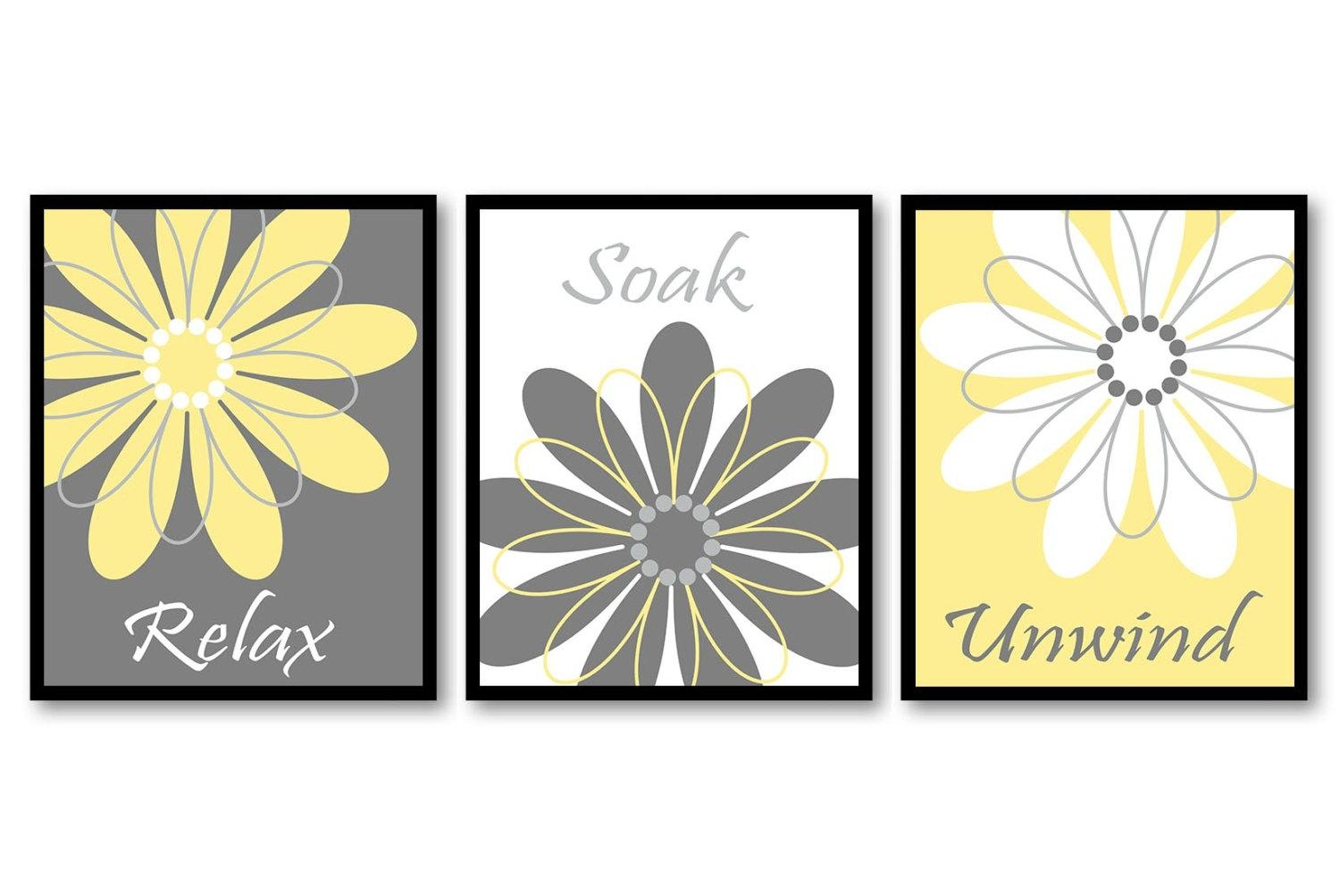 20+ Choices of Yellow and Gray Wall Art