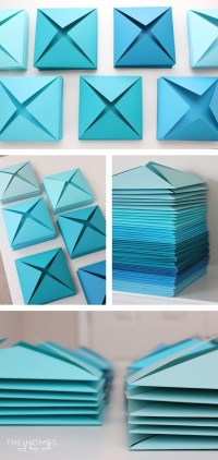 20 Ideas of 3D Paper Wall Art | Wall Art Ideas