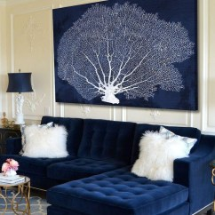 Fancy Sectional Sofas Shallow Sofa 20 Collection Of Navy Blue Wall Art | Ideas