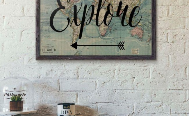20 Best Collection Of Old World Map Wall Art Wall Art Ideas
