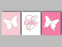 20 Collection of Pink Butterfly Wall Art | Wall Art Ideas