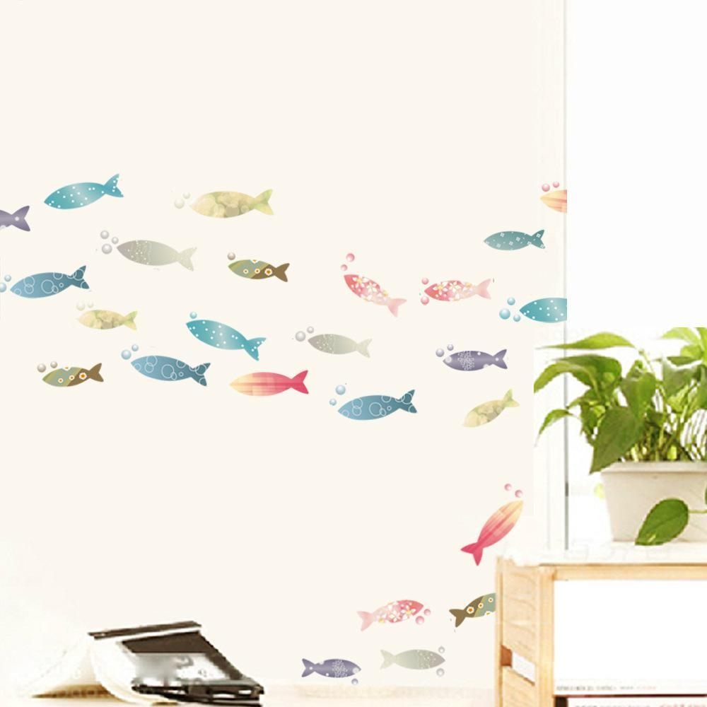 20 Best Collection of Fish Decals for Bathroom