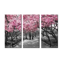 2018 Latest Red Cherry Blossom Wall Art | Wall Art Ideas