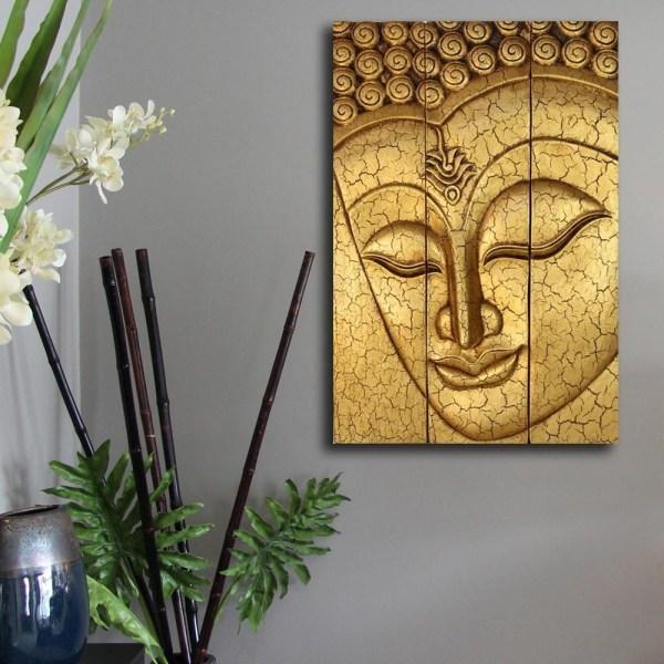 Wood Buddha Wall Art