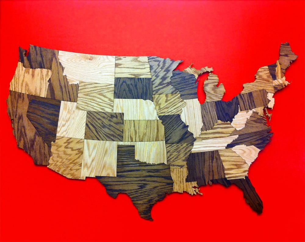 21 Ideas Of United States Map Wall Art