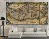 20+ Choices of Antique Map Wall Art | Wall Art Ideas