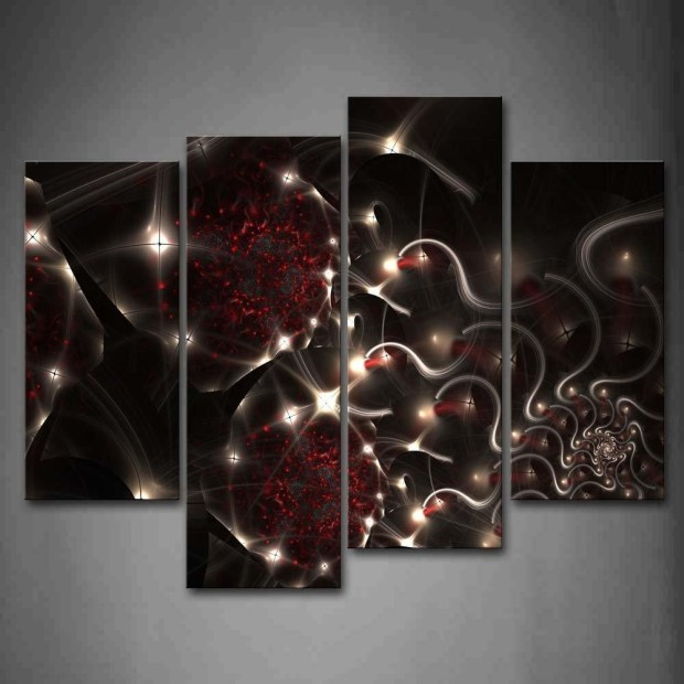 Red And Black Wall Art - Home Design Ideas