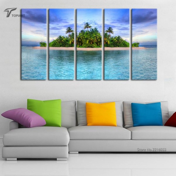 Large Tropical Canvas Wall Art