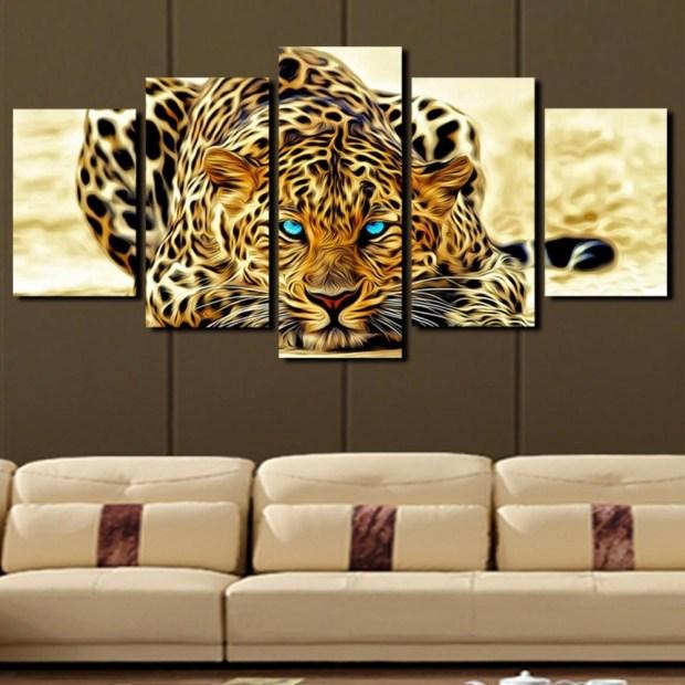 Leopard Print Wall Decor - Home Design Ideas