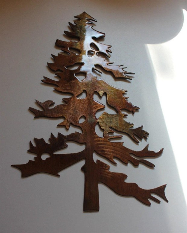 Metal Pine Tree Wall Art - Home Design Ideas