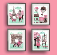 20 Best Collection of Paris Theme Nursery Wall Art | Wall ...