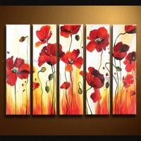 20 Top Metal Poppy Wall Art   Wall Art Ideas