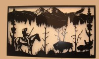 20 Photos Western Metal Wall Art Silhouettes | Wall Art Ideas