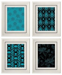 20 Best Collection of Turquoise and Black Wall Art | Wall ...