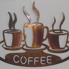 Coffee Decor For Kitchen Ikea Faucets 20 Collection Of Theme Metal Wall Art Ideas