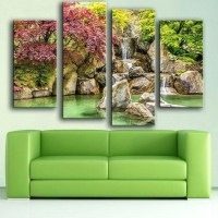 20 Ideas of Waterfall Wall Art   Wall Art Ideas