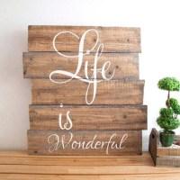 20 Best Wooden Word Wall Art | Wall Art Ideas
