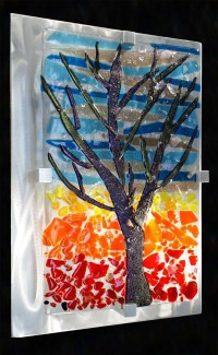 20 Photos Contemporary Fused Glass Wall Art