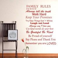 20 Best Ideas Family Rules Canvas Wall Art   Wall Art Ideas