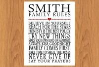 2018 Latest Personalized Family Rules Wall Art   Wall Art ...