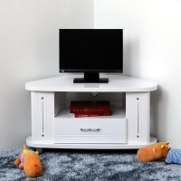 20 Ideas of White Small Corner Tv Stands