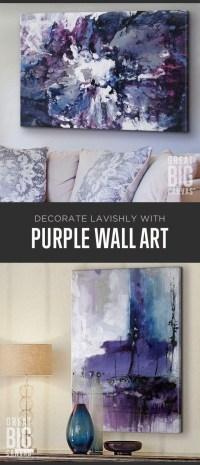 20 Collection of Purple Bathroom Wall Art | Wall Art Ideas