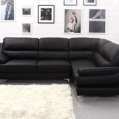 Leather Sofa Black And White Dog Friendly Sectional Sofas 22 43 Choices Of Large Corner Ideas