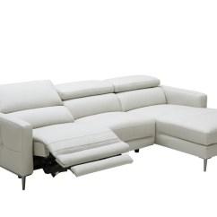 Phantom Contemporary Grey Leather Sectional Sofa W Ottoman Retro Red 20 Inspirations Recliners Ideas