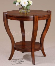 Pecan Wood Furniture End Tables