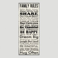 20 Best Ideas Family Rules Canvas Wall Art | Wall Art Ideas