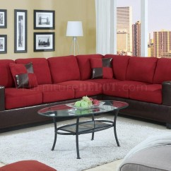 Red Modern Sectional Sofa Mainstays Sleeper 21 Best Ideas Microfiber Sofas