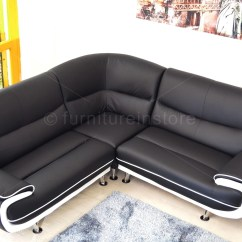 Black And White Leather Sofa Indoor Wicker Set 22 43 Choices Of Large Corner Sofas Ideas