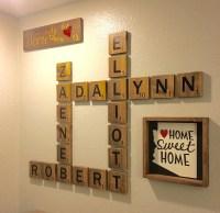 20 Top Scrabble Names Wall Art | Wall Art Ideas