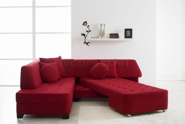 Red Leather Sectional Sofa With Sleeper - Year of Clean Water