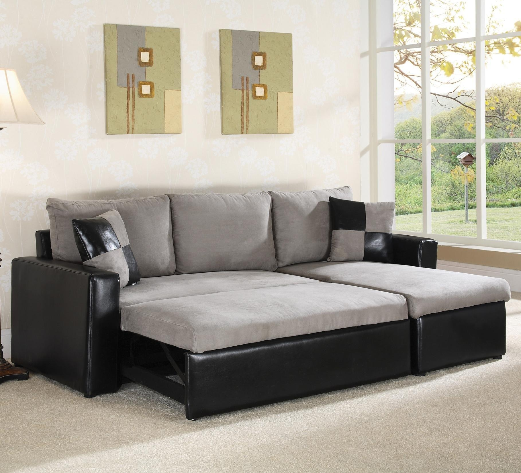 sleeper sofa black danish design bed 21 collection of leather sectional sofas