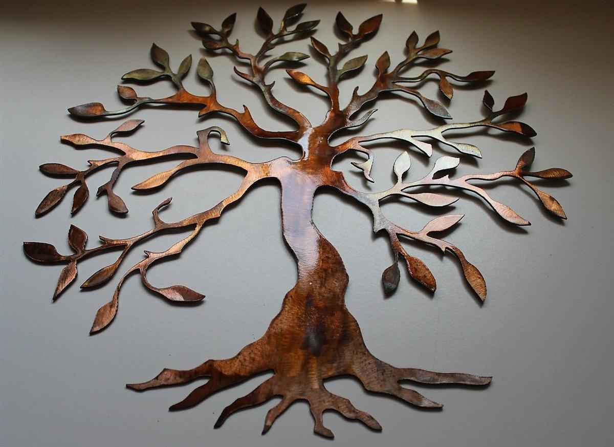20 Top Oak Tree Large Metal Wall Art