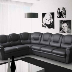Large Corner Sofa In Small Living Room Best Flooring For Kitchen 22+ Choices Of Black Leather Sofas | Ideas