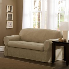 Two Cushion Sofa Slipcover Comfortable Contemporary Sectional Sofas 2 Piece T Slipcovers Brokeasshome