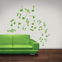 20 Ideas of Music Notes Wall Art Decals | Wall Art Ideas