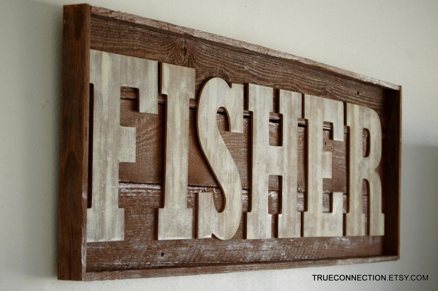 Personalized Wall Art Last Name