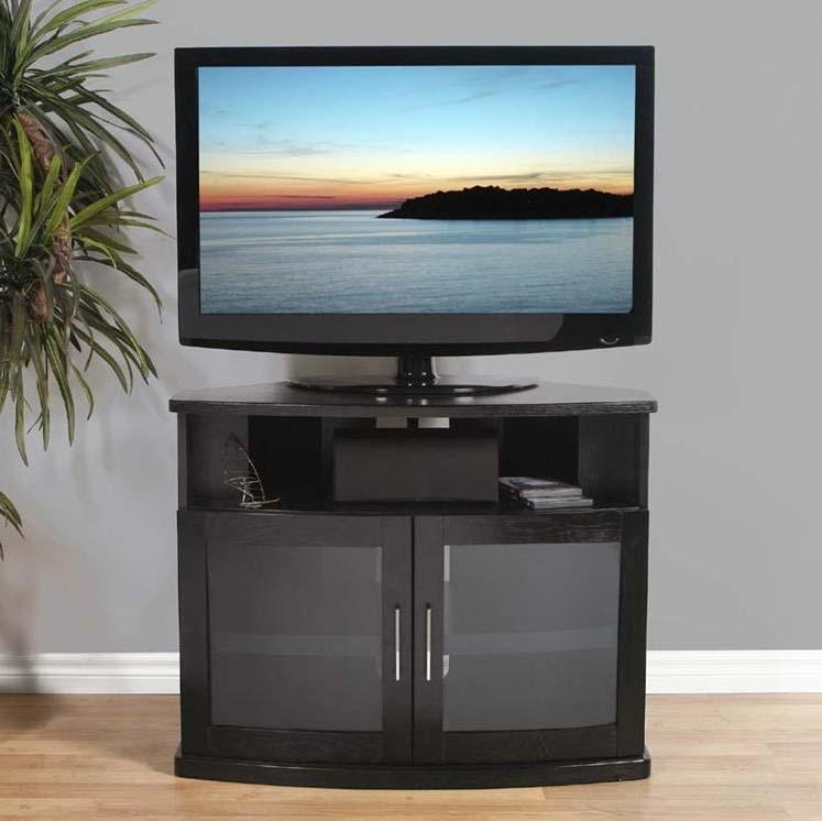 20 Best Ideas Black Corner Tv Cabinets With Glass Doors