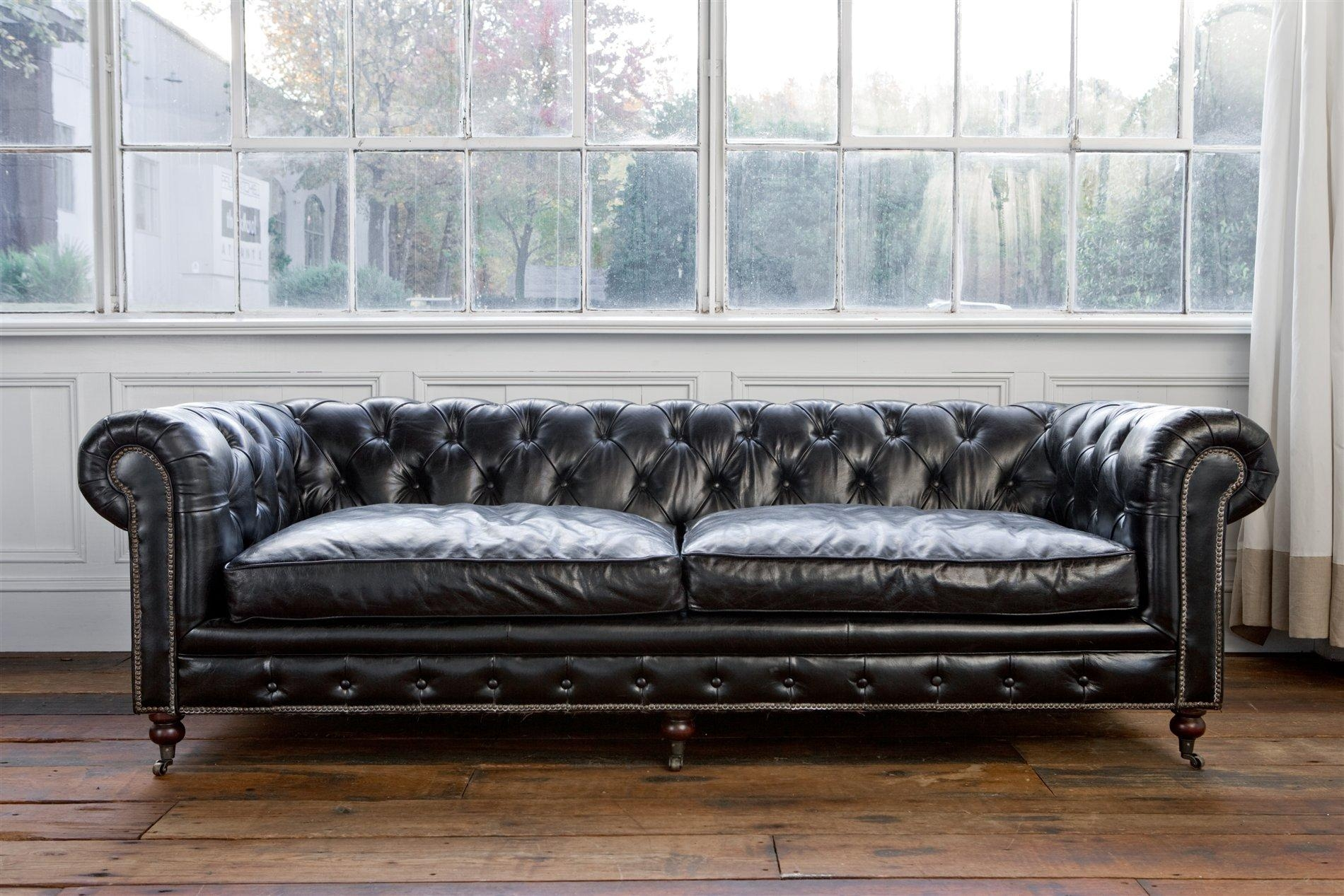 black leather sofa set cheap covers for sofas india 20 photos chesterfield ideas