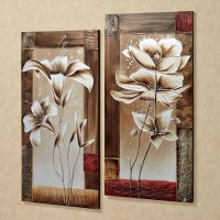20 Best Ideas Silver Metal Wall Art Flowers   Wall Art Ideas