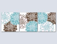 20 Collection of Teal and Brown Wall Art | Wall Art Ideas