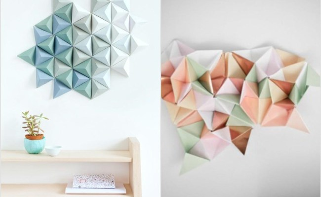 20 Inspirations Diy Origami Wall Art Wall Art Ideas