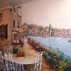 Kitchen Wall Murals Metal Chairs 20 Ideas Of Italian Style Art